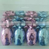 Packing in PVC Box Popular Ribbon Star Bow and Eggs for Gift Packaging or holiday decoration