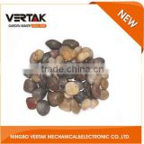 Garden tools supplier popular colorful yellow pebble , cobble stone , pebble in bulk