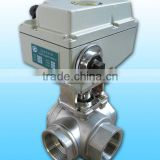 KLD1500 3-way electric actuated Ball Valve(stainless steel) for water treatment, process control, industrial automation
