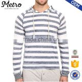 New Style Custom Mens Contrast Color Stripe Hoodies