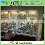 mounted wall watch display case for retail store