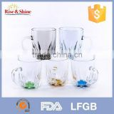 Transparent colorful mug cup and jumbo coffee mugs with handle for coffee water beer juice