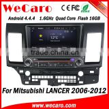 "Wecaro 8"" Android 4.4.4 car stereo 2 din touch screen car dvd for mitsubishi lancer radio gps bluetooth 2006 - 2012"