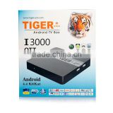 Tiger Star I3000 OTT Android Tv BOX Free 1 Year IPTV Amlogic S805