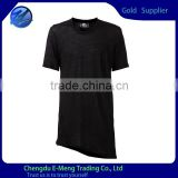 Tall tshirt with irregular clipping for man bulk blank t-shirt                                                                         Quality Choice
