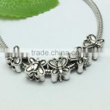 Wholesale Pdora Archaized Anti-silver Butterfly Shape Hole Beads, DIY Bracelets Hole Beads Accessories