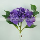 2014 Best selling single cheap artificial hydrangea flower for wedding and holiday occasion