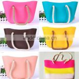 2015 most fasion jelly color beach bag silicone