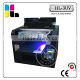 Digital a3 size 6 color mobile covers printing machine embossing effect from China factory