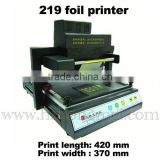 TJ 219 foil printer hot stamping machineleather,PVC,plastic film,varnished cloth,wooden board