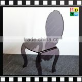 2016 Round Back Colorfu/clearl Acrylic dining chair for wedding in home/hotel/restaurant From China