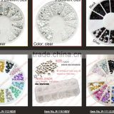 2014 New Style 3D Design Nail Art Tips Rhinestone Decoration Wheel Tools For Beauty & Health 4 Sizes 30000PCS 19818#006