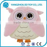 pink plush handmake bird shape neck pillow