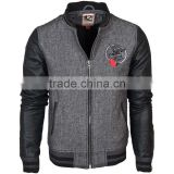 bomber leather sleeve varsity jacket,fashion baseball varsity jacket,customized style leather sleeve varsity jacket