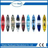 2016 wholesale 2+1 three seat 3 person sit on fishing kayak/No inflatable hull material LLDPE-family kayak