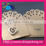 Hot Sell!!!Factory Haiying free design paper craft customized paper necklace display card