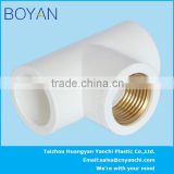 BOYAN pvc ASTM standard water supply pipe fitting female copper thread tee