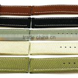 Customize Style Genuine Leather Lining Canvas Watch Straps