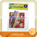 Hot sale Stencil set with color pens, 4 Pack. Trade assurance.