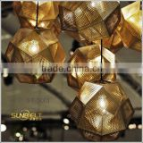 ST-5001 Sunbelt Engraved stainless steel pendant lamp, modern lamp, pendant lamp, Carving faceted ball modern pendant lamp.