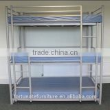 silver 3 person bunk bed/ Knock down steel 3 sleeper bunk bed                                                                         Quality Choice