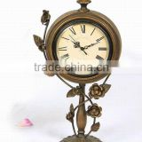 Handmade antique brass table clock for decoration
