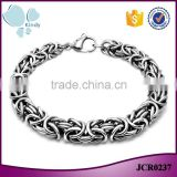 Kindy jewelry JCB0237 new design 316l stainless steel metal motorcycle chain bracelet                                                                                                         Supplier's Choice