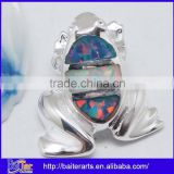 Many Designs !!! 925 Sterling Silver Black Opal Necklaces Big Animal Frog Pendant