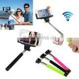 Extendable Self Selfie Stick Handheld Monopod +Clip Holder+Bluetooth Camera Shutter Remote Controller IOS And Android Smartphone