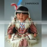 "24"" Happy Sitting Indian girl Doll with big smile made in vinyl collection doll"