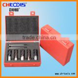 HSS coating core drill set with red plastic box