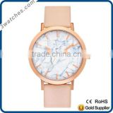 marble stone dial watch gold watch lady stainless steel watch quartz watch waterproof leather band OEM ODM marble dial watch