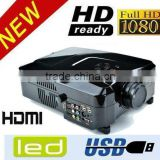 Cheap portable 2200lumen Multimedia LCD LED HD Projector 1080p for Laptop Wii Xbox and Video Games home theater projector