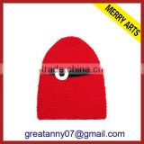 2015 new product new design black red lovely knitted baby christmas hat and carnival hats with good quality