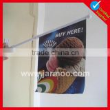 best selling ice cream shop promotion wall flags with bracket