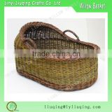 wicker baby pram basket wicker cradle wicker baby shower gift moses basket baby carrier basket with side handles