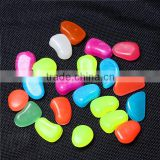 Colorful Man-made Pebbles Luminous Stone, Night Light Stones for Garden Walkway Decorative                                                                         Quality Choice