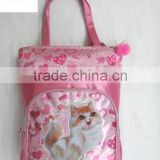 CHEAP SATION CAT PINK SHOPPING PROMATION HAND BAGS