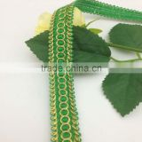 beautiful green gimp braid scalloped gold lurex lace trimming
