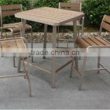 Patio furniture plastic wooden dinning furniture/ used outdoor bar stools/ bar furniture made in China