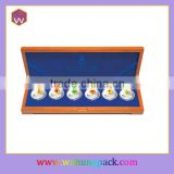 6pcs Silver Coin/Medal Box Wood /Long MDF Medal Box Gift Wholesale
