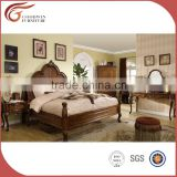 new product bedroom set/ home furniture/ king size bed/ carved wood and solid wood bedroom set A04