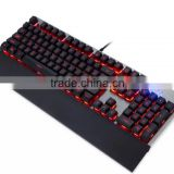 RGB mechanical gaming keyboard with Palm rest,can programble