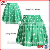Women's short skirt polka dot pattern comfort pictures of mature women short skirt                                                                         Quality Choice