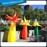 inflatable led tree cone / 3m inflatable lighting tree for holiday decoration