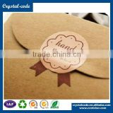 Custom design polyester material Anti-Counterfeit adhesive seal sticker with company name and logo