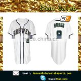 Wholesale Custom Sublimation baseball jacket leather sleeves design wear and blank baseball jersey white