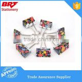 Color printed customized pattern binder clips for gift