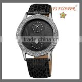 Snake Leather Crystal Diamond Glutinous Watch Case Fashion Lady Watch