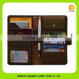 16239 Unisex crazy horse leather passport holder with credit slot custom passport cover alibaba in china